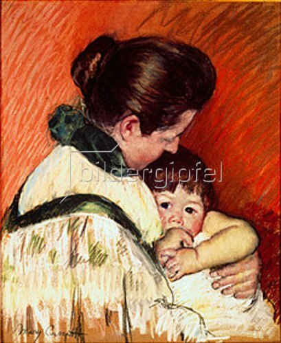 Mary Cassatt: Mutter und Kind (Thomas, der Daumenlutscher). 1893.