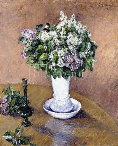Gustave Caillebotte: Stillleben mit einem Fliederstrauß in einer Vase (Nature Morte au Vase de Lilas). 1883
