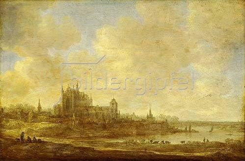 Jan van Goyen: Landschaft mit Motiv aus Leiden. 1643.