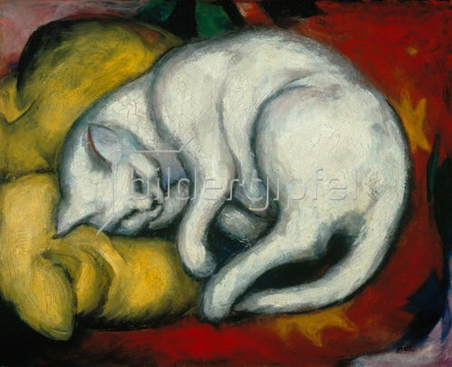 Franz Marc: Die weisse Katze. 1912