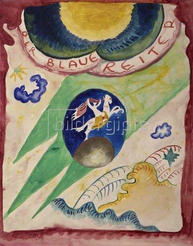 Wassily Kandinsky: Entwurf zum Almanach Der Blaue Reiter, 1911.