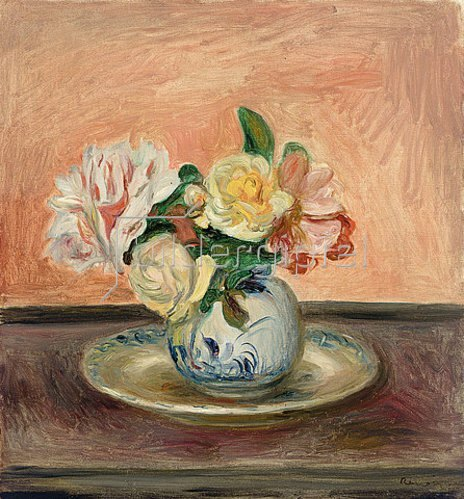 vase mit blumen von auguste renoir kunstdruck. Black Bedroom Furniture Sets. Home Design Ideas