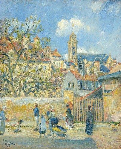 Camille Pissarro: Le Parc aux Charrettes, Pontoise. 1878