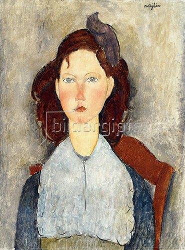 Amadeo Modigliani: Sitzendes Mädchen (Fillette assise). 1918