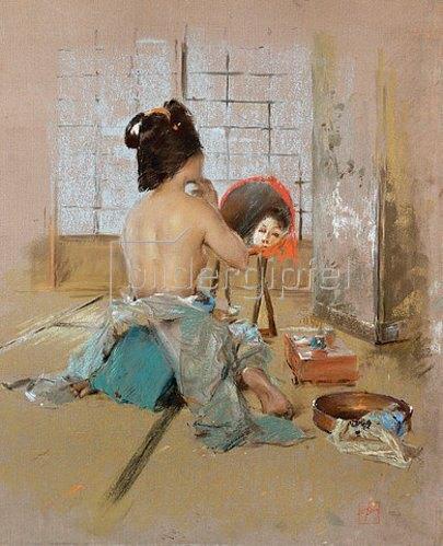Robert Frederick Blum: Geisha (Geisha at her Toilet).