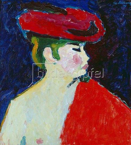 Alexej von Jawlensky: Mädchen mit rotem Schal.