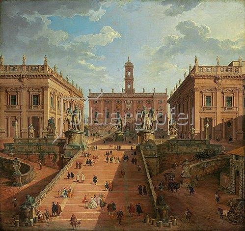 Giovanni Paolo Pannini: Blick auf das Kapitol in Rom. 1750