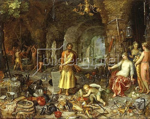 Jan Brueghel d.Ä.: Die Weissagung des Propheten Jesaia. (Zusammen mit Hendrick van Balen).