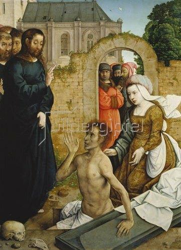 Johann von Flandern: Die Auferweckung des Lazarus.