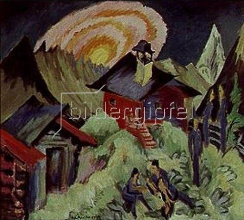Ernst Ludwig Kirchner: Mondaufgang auf der Staffelalp. 1917.