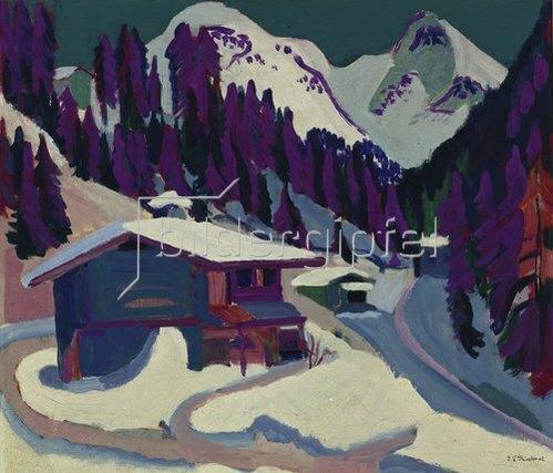 Ernst Ludwig Kirchner: Wildboden im Schnee. 1924/26
