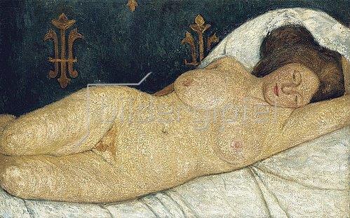 Paula Modersohn-Becker: Liegender weiblicher Akt. 1905-06