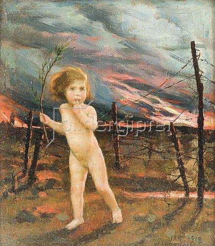 William Logsdail: An Allegory of War: Peace lost in no man's land (Allegorie des Krieges, Der Friede verloren im Niemandsland).