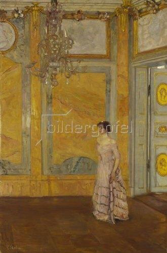 Franz Skarbina: Der gelbe Saal.