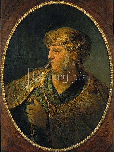 Rembrandt van Rijn: Bildnis eines Mannes in orientalischem Kostüm. 1633