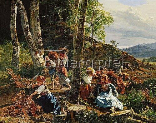 Ferdinand Georg Waldmüller: Reisigsammler im Wiener Wald. 1855.