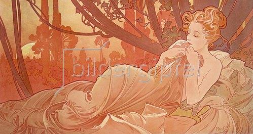 Alfons Mucha: Abenddämmerung (Crépuscule). 1899