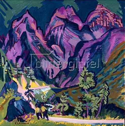 Ernst Ludwig Kirchner: Sertigberge. 1923/24.