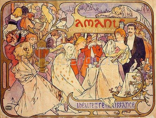 Alfons Mucha: Amants. 1895