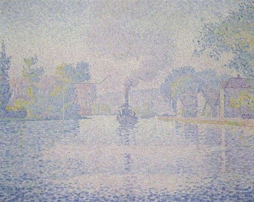 Paul Signac: Flußdampfer. 1901