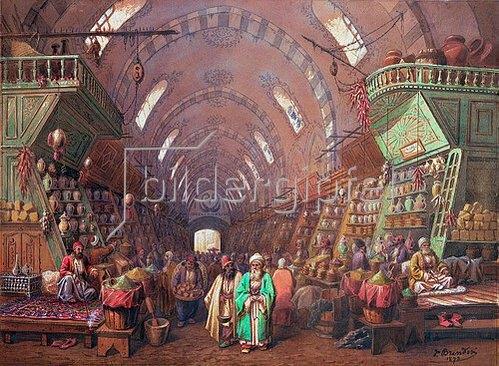Jean Brindesi: Ein Basar in Konstantinopel. 1873