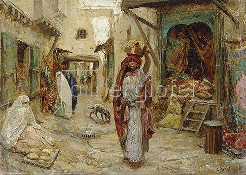 Fabio Fabbi: Ein arabischer Markt.