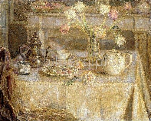 Henri Le Sidaner: Das weiße Tischtuch (La Nappe Blanche).