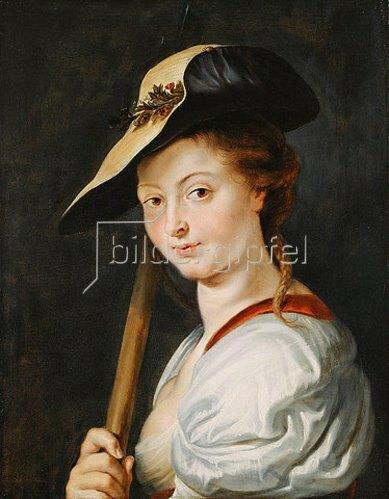 Peter Paul Rubens: Porträt einer jungen Frau als Schäferin, wohl Suzanna Fourment.