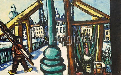 Max Beckmann: Die Holzbrücke.  1945