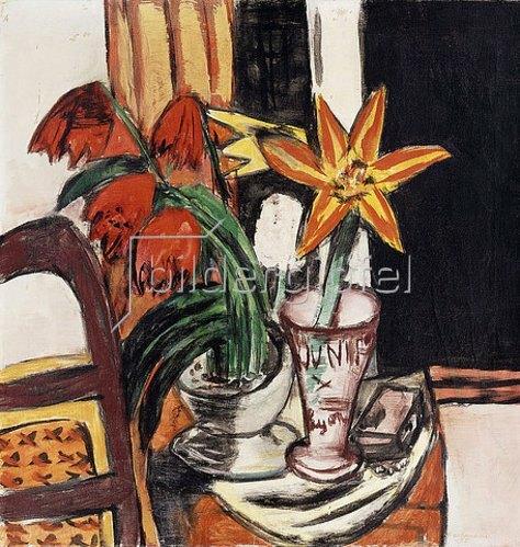 Max Beckmann: Rote Tulpen und Feuerlilien. 1935