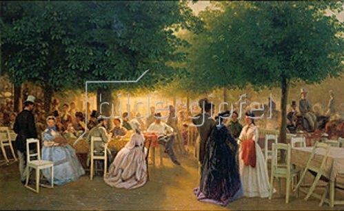 Victor Barvitius: Gründonnerstag im Stadtpark. 1865.