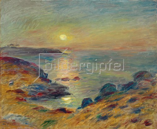Auguste Renoir: Sonnenuntergang in Douarnenez. Um 1883