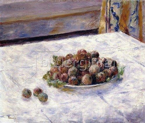 Auguste Renoir: Stillleben, ein Teller mit Pflaumen (Nature Morte, Le plat de Prunes). Ca. 1884