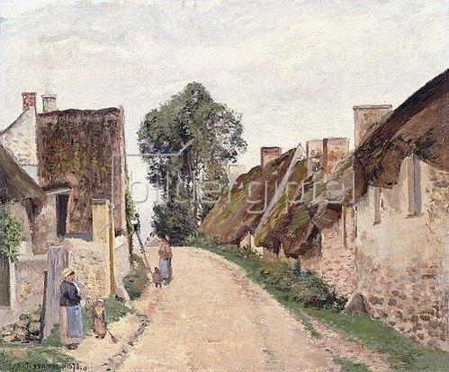 Camille Pissarro: Dorfstraße, Auvers-sur-Oise (Rue de village, Auvers-sur-Oise). 1873