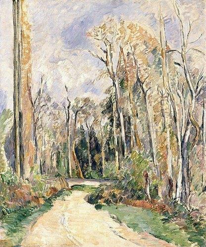 Paul Cézanne: Weg am Waldeingang (Chemin à l'entrée de la foret). Um 1879