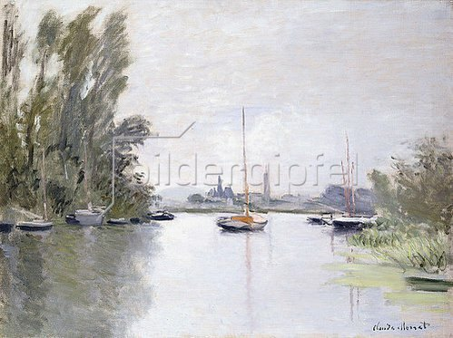 Claude Monet: Argenteuil, von einem kleinen Arm der Seine aus gesehen (Argenteuil, vue du Petit Bras de la Seine). 1872