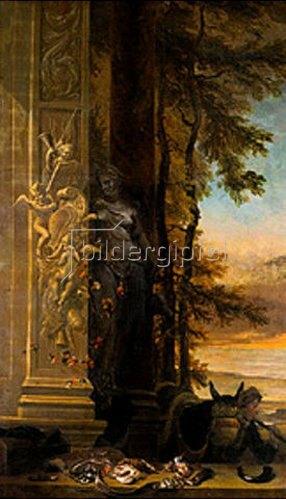 Jan Weenix: Jagdstilleben vor einer Dianastatue.