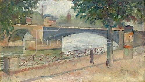 Edvard Munch: Ansicht der Seine, Saint-Cloud. 1890