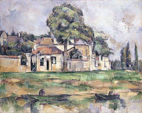 Paul Cézanne: Am Ufer der Marne (Bords de la Marne). Um 1888
