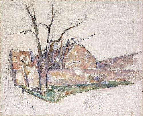 Paul Cézanne: Landschaft im Winter (Paysage d'Hiver). Um 1885