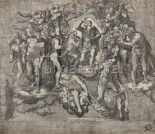 Niccolo della Casa: Christus als Weltenrichter. (nach Michelangelo)