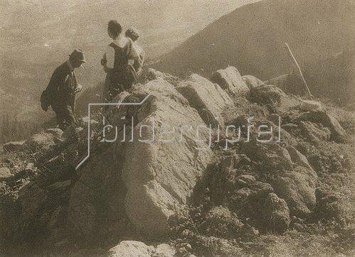 Heinrich Kühn: Ohne Titel (Im Gebirge). Ca. 1915-25.