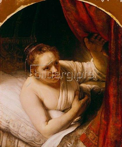 Rembrandt van Rijn: Sarah erwartet Tobias in der Hochzeitsnacht. 164(.).