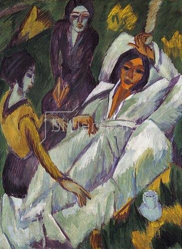 Ernst Ludwig Kirchner: Frauen beim Tee. 1914