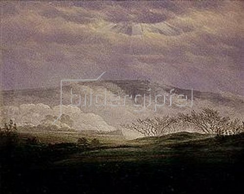Caspar David Friedrich: Nebel im Elbttal. 1821.