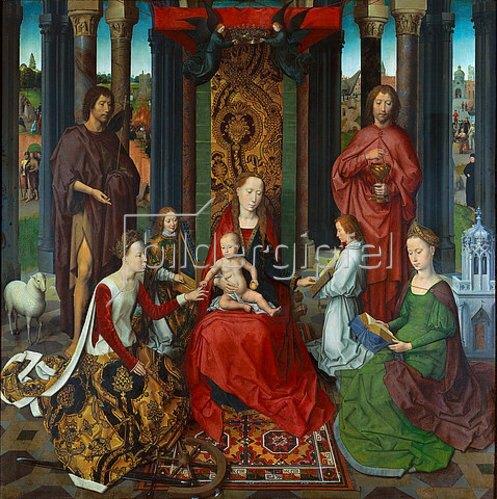 Hans Memling: Die mystische Vermählung der Heiligen Katharina. 1479