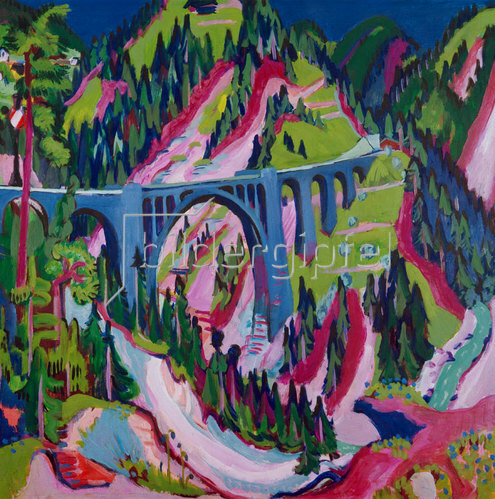 Ernst Ludwig Kirchner: Brücke bei Wiesen. 1926