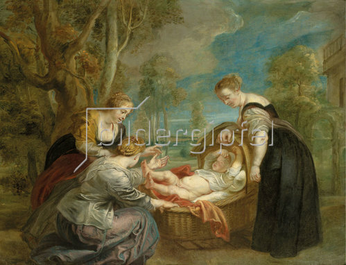 Peter Paul Rubens: Die Auffindung des Mosesknaben.