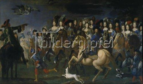 Joh.Bapt.(Churland/Curlander) Corlando: Kurfürst Max Emanuel von Bayern auf der Reiherjagd. 1690.