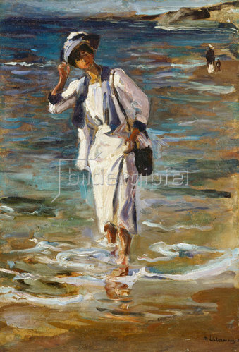 Max Liebermann: Frau am Strand